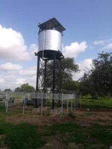 Elevated Solar System water yard upgrading in Gantur Rahad. UNICEF PROJECT